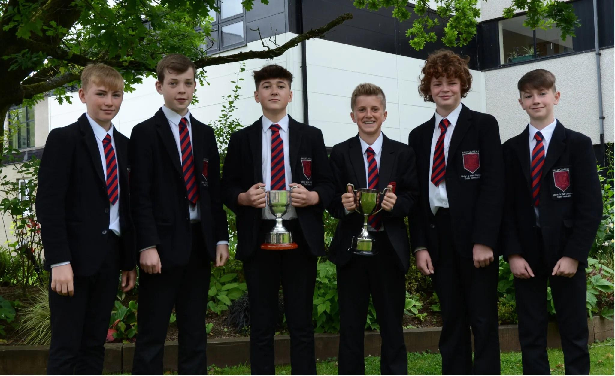 Ulster and Irish U13 Table Tennis Champions