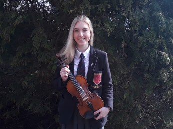 Emma ruddock - gained a place in Ulster Youth Orchestra