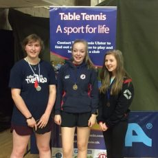 Jessica Baird Ulster U19 Table Tennis Champion