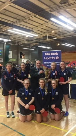 U19 Girls Ulster Champions– Jessica Baird, Victoria Irwin, Holly Tumelty, Megan Tumelty, Ellen Hall, Saffy Cockcroft.