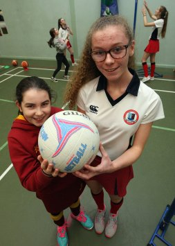 Picture by Freddie Parkinson Open Night, Sarah Bell 11 of Kings Park Primary School and Zara Beattie