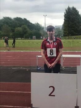 Austin Martin Ulster Bronze medallist in the long jump