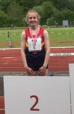 Ballyclare High's Hayley Rolston Ulster Athletics' Silver Medallist in the 100ms
