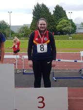 Katrhyn Coombs double Ulster medallist in discus and silver