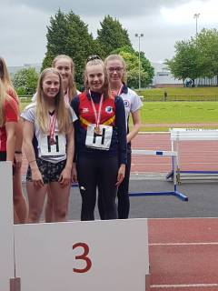 Ulster Champions Ballyclare High's Inter Girls Team