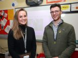 Past pupils Ruth Jenkins and Michael Crowe who are both Doctors.