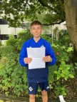 Alex Corr Ballyclare High pupil happy with his three A grades at AS level
