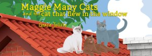 Cats on roof from the book Maggie Many Cats by Grace Jolliffe - illustrating a page about beautiful sunsets
