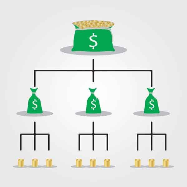 money scams pyramid scheme diagram