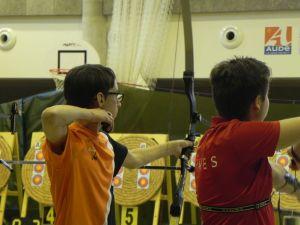 Balma Arc Club - Championnat de ligue jeunes Carcassonne - Duel Gaël THIEUW