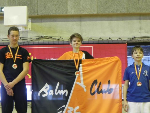 Balma Arc Club - Championnat de ligue jeunes Carcassonne - Podium Ewen Espeu