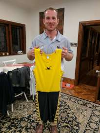 Kevin Wall with his WA State Representative Rowing Suit
