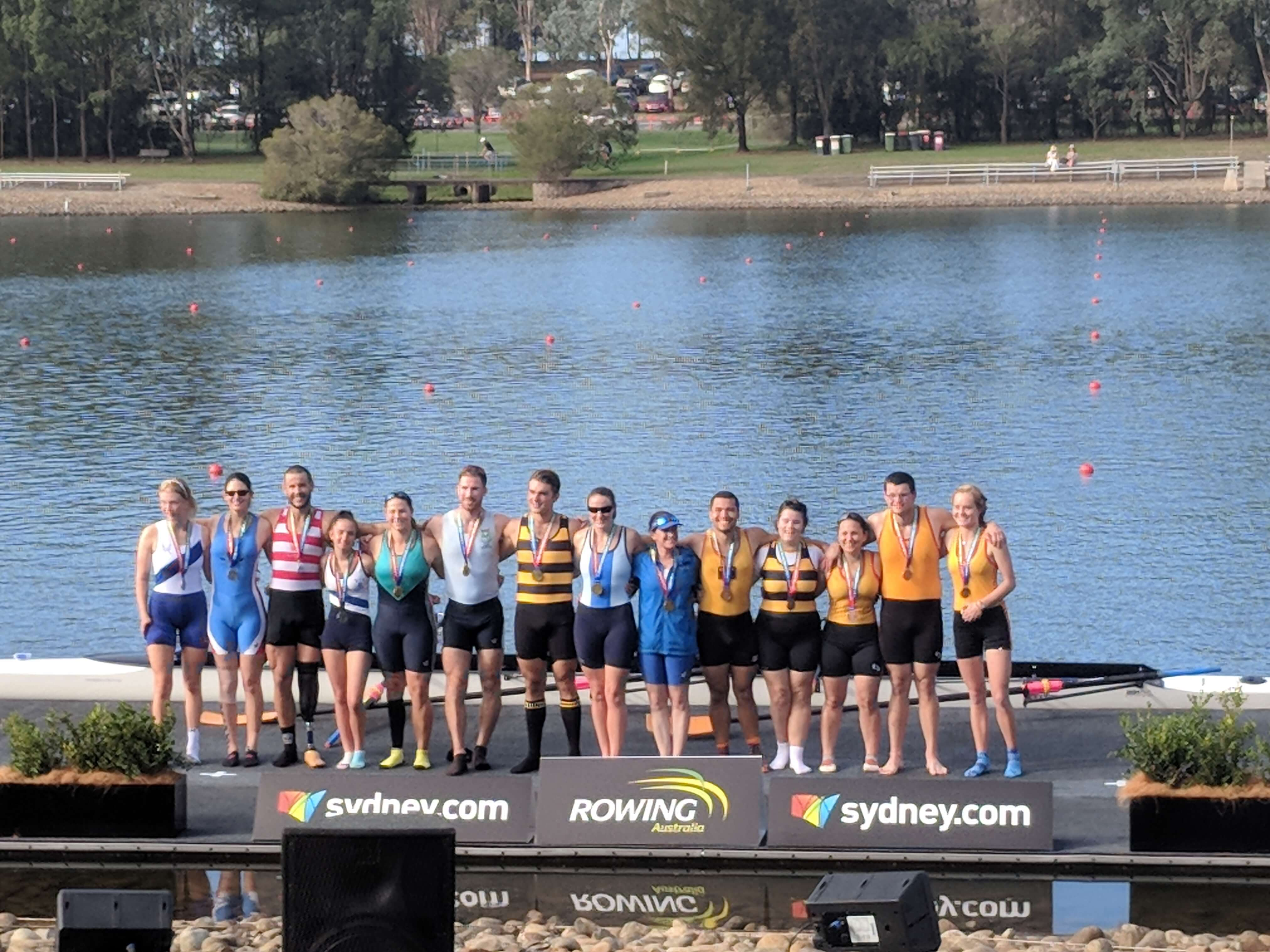 The medal-winners of the PR3 4+ event at SIRR2018