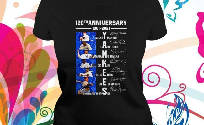 120th Anniversary 1901 2021 New York Yankees Team Players
