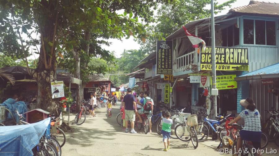Trên đảo có rất nhiều nơi cho thuê xe đạp.