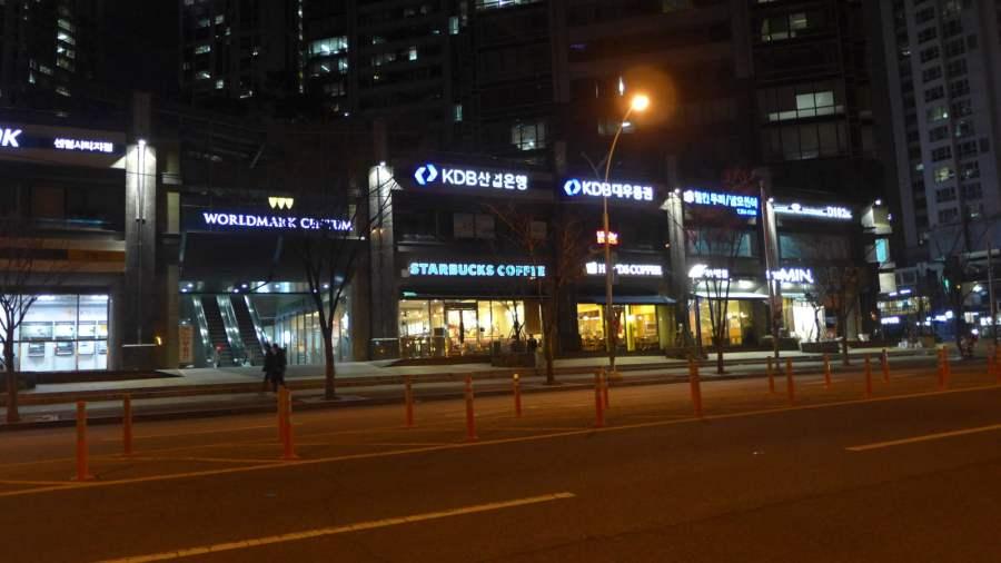 Đường phố Busan về đêm