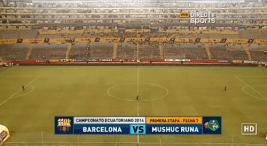 Así se manifestó el estadio Banco del Pichincha previo al cotejo.
