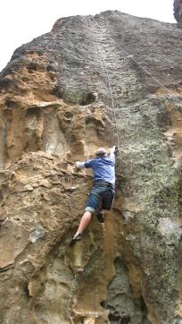 'This is my type of climbing. Who needs to use feet when you have arms?!'