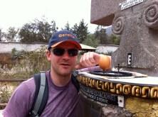 Chubs balanced an egg on the ecuator line like a true egg master