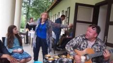Adasa Skliutauskaite dancing at Bikuškis Estate in 2014