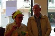 Elena ir jos mokytojas Andrius Valius. / Elena with her teacher Andrius Valius.