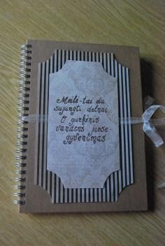 svečių knyga iš ekologiško popieriaus