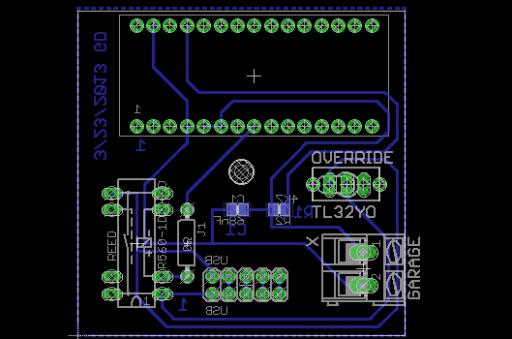 USB dongle layout