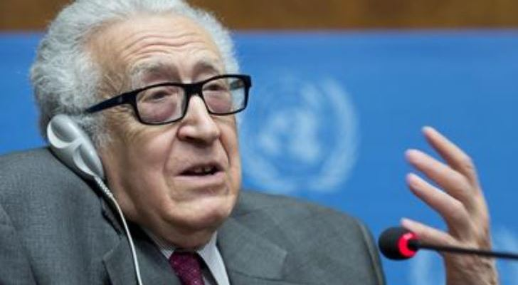 Lakhdar Brahimi, Joint Special Representative of the United Nations and the League of Arab States for Syria, speaks during a press conference at the Geneva II Conference on Syria. UN Photo/Jean-Marc Ferré