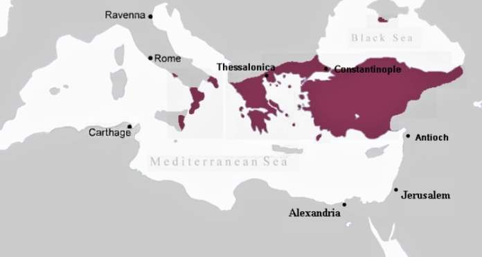 The Byzantine Empire, c. 867 AD | Source: Wikipedia