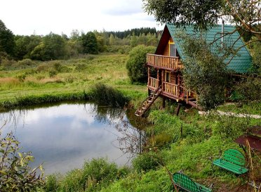 The farm tourism estate Kholmogory, Gorki District