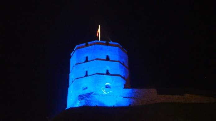 Shown here is a striking blue image of Gediminas Castle Tower in Vilnius photographed by Milda Vaitkeviciute in celebration of the 70th anniversary of the founding of the UN and UN Day on October 24.
