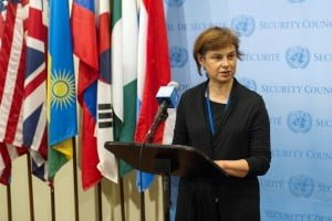 Lithuanian Ambassador Ramona Murmokaite, as a non-permanent member of the UN Security Council, has been especially effective in standing up for the territorial integrity and sovereignty of Ukraine. Photo © by UN Photo/Mark Garten