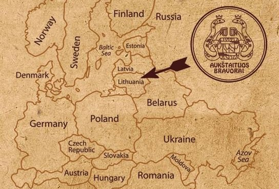 Lithuania Beer map
