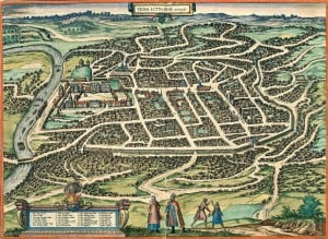 Vilnius in 1576, capital of Grand Duchy of Lithuania
