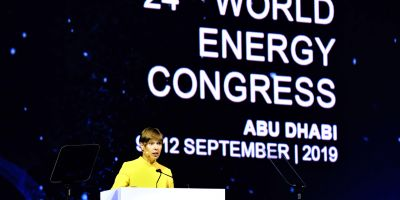 President of Estonia Kersti Kaljulaid at the World Energy Congress