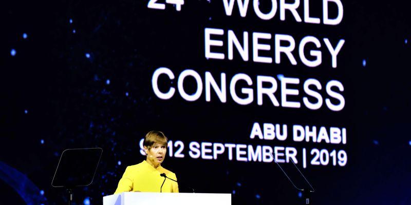 President of Estonia Kersti Kaljulaid at the World Energy Congress