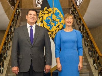 Estonian President Kaljulaid met with Keith Krach