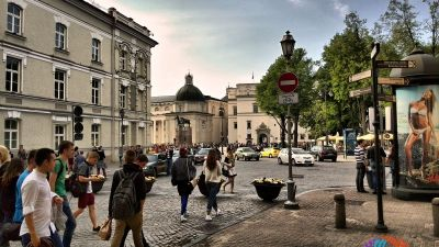 Cathedral Square - The main square of the Vilnius Old Town