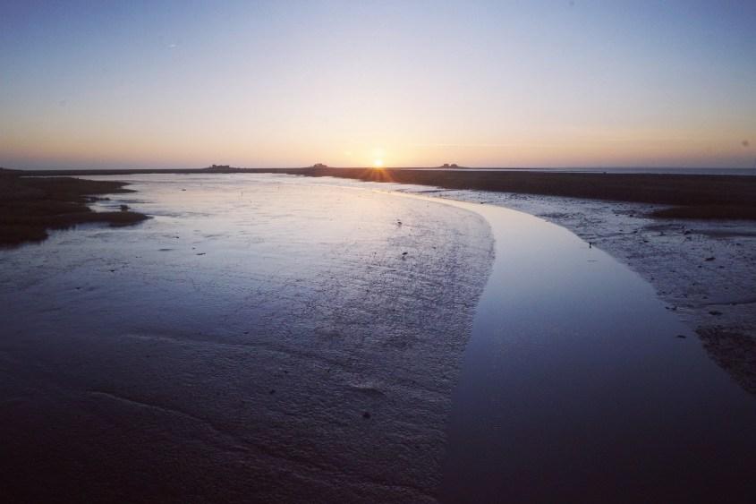 Sonnenuntergang auf Hooge