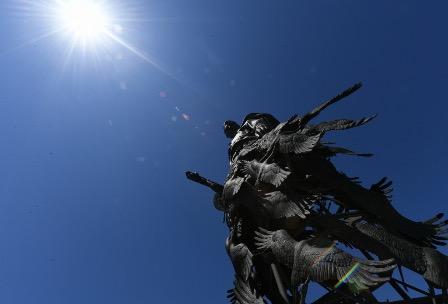 Главы России и Белоруссии открыли памятник Советскому солдату подо Ржевом