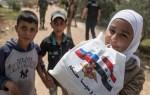 Российские военные передали жителям сирийского посёлка продукты и одежду