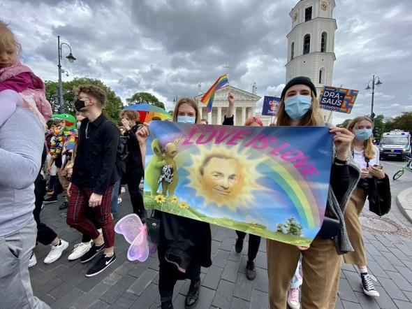 В Вильнюсе требовали обеспечить права общины ЛГБТ