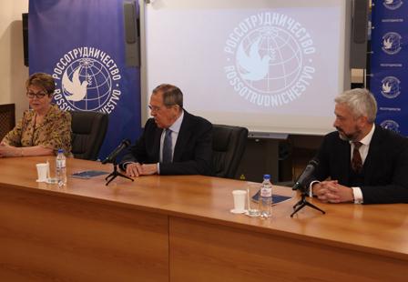 Сергей Лавров представил коллективу Россотрудничества нового руководителя