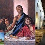 В британском соборе появилась Тайная вечеря с темнокожим Христом
