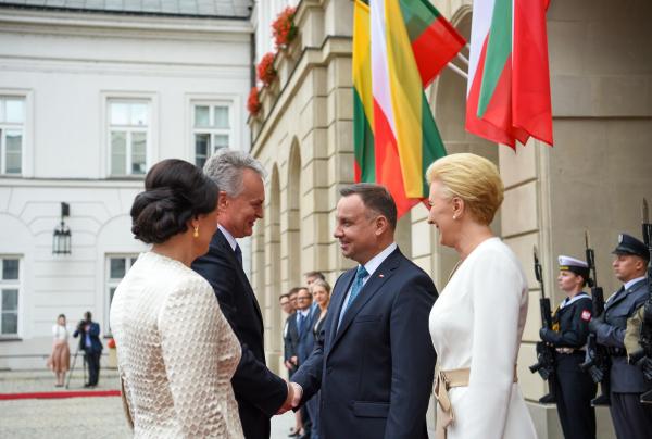 Президент Литвы прибыл в Польшу на торжества юбилея Грюнвальдской битвы