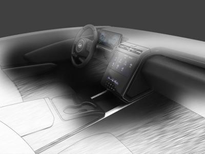 В сети появились первые изображения салона нового Hyundai Tucson