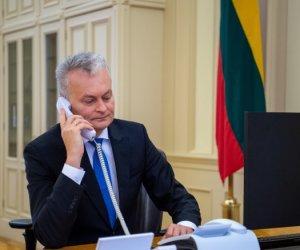 Г. Науседа побеседовал по телефону со Светланой Тихановской – советник