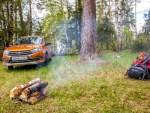 Как при помощи автомобильного антифриза развести костер