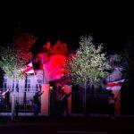 Провокация: Посольства Беларуси и РФ в Литве были освещены в бело-красно-белые цвета