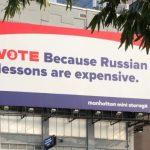 Соотечественники в США выразили протест против русофобской рекламы в Нью-Йорке